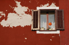 Window with Brown Shutters, Izola Stock Photos
