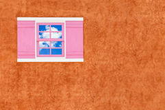 Window and  brown wall Royalty Free Stock Photo
