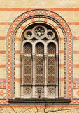 Window of the Budapest Great Synagogue, Budapest. Window of the Great Synagogue (largest in Europe, second largest in the world) in Budapest, Hungary Royalty Free Stock Photography
