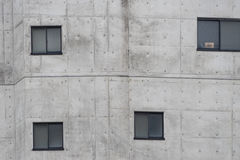 Window on building exterior wall. Royalty Free Stock Photography