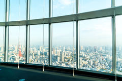 Window of building with Tokyo Tower background. Glass window of building with Tokyo Tower background Stock Photography