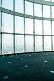 Window of building with Tokyo Tower background. Glass window of building with Tokyo Tower background Royalty Free Stock Photos