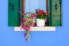 Window of a Burano house Royalty Free Stock Image
