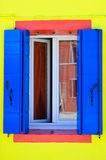 Window of a Burano house Royalty Free Stock Photography