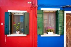 Window from Burano Royalty Free Stock Photo