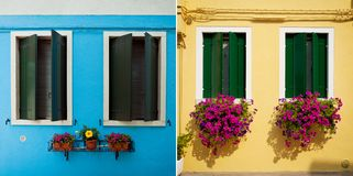 Window from Burano Royalty Free Stock Photography