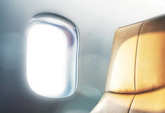 Window of a business class Royalty Free Stock Photo
