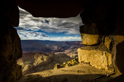 Window on the canyon Royalty Free Stock Photography