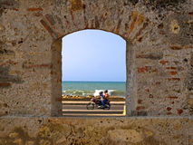 A Window Cartagena Royalty Free Stock Photography