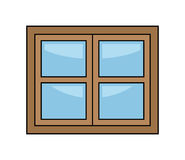 Window cartoon vector symbol icon design. Beautiful illustration isolated on white background Royalty Free Stock Photography
