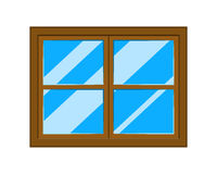 Window cartoon vector symbol icon design. Royalty Free Stock Images