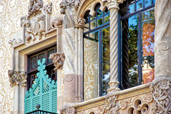 Window of Casa Amatller in Eixample district in Barcelona Stock Photography