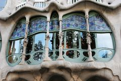 Window of Casa Batllo Royalty Free Stock Photo