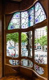 Window of Casa Batllo Royalty Free Stock Images