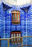 Window in Casa Batlo corridor. Casa Batlo is created by Antonio Gaudi. The picture shows the windows in  the ceramic corridors Royalty Free Stock Photos