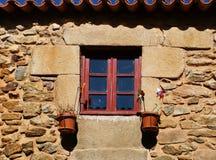 Window in Castelo Rodrigo historical village Stock Photo
