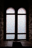 The window of castle. The image of the ancient castle window stock photo