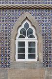Window castle Pena. Sintra Portugal. Royalty Free Stock Image