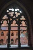 View through window Malbork Castle, Poland Royalty Free Stock Photos