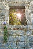 Window in castle wall Royalty Free Stock Photography