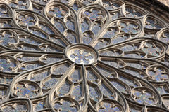 Window of cathedral Stock Images