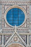 Window Cathedral Santa Maria in Siena, Tuscany, Italy Stock Images