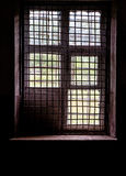 Window in cell with bars stock photos