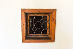 The window in the cell Troyan Monastery in Bulgaria stock photography