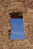 Window, Chaco Culture National Historic Site Royalty Free Stock Photos