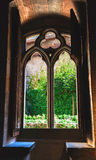 A window in Chillon castle in Switzerland.  stock image