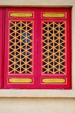 Window Chinese. Chinese Temple, Nontaburi province, near Bangkok, Thailand Royalty Free Stock Photo