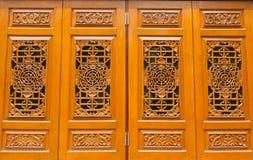 Window chinese style. At Dragon Temple Kammalawat in Bangkok Thailand Royalty Free Stock Photo