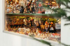 Window of christmas toys shop Royalty Free Stock Photography