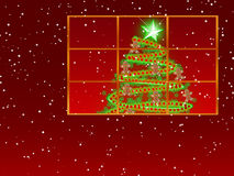 Window With Christmas Tree ~ Gingerbread Royalty Free Stock Photos