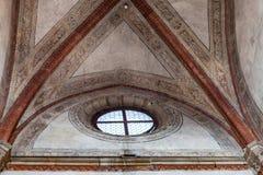 Window in Church santa maria gloriosa dei frari. VENICE, ITALY - MARCH 30, 2017: window in Basilica di santa maria gloriosa dei frari The Frari. The Church is stock photography