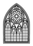 Window for churches and monasteries Stock Photos