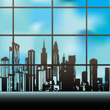 Window on the City Stock Photos