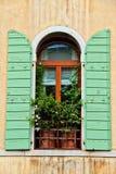 Decorated Italian Window Stock Photography