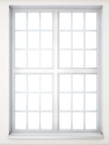 Window in a classical style close-up. Front view. 3D illustratio Stock Images