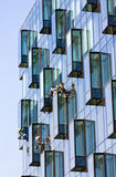Window cleaner and reflection Royalty Free Stock Photography