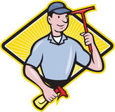 Window Cleaner With Squeegee Royalty Free Stock Image
