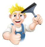 Window Cleaner With Squeegee Stock Photos