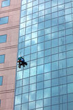 Window cleaner at work Stock Photo