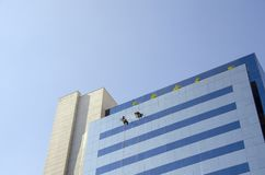 Window Cleaners Stock Photography