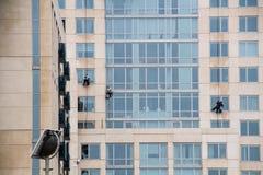 Window Cleaners Stock Photo