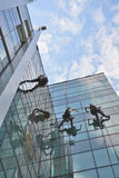 Window cleaners on office building, photo taken 20.05.2014 Stock Photos