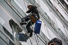 Window cleaners Stock Images