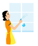 Window Cleaning royalty free stock photo
