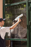Window cleaning Royalty Free Stock Photography