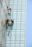 Window cleaning in Dubai Stock Image